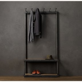 Hall bench and coat rack 3
