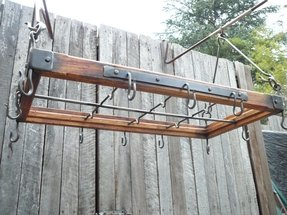 Kitchen hanger rustic style and