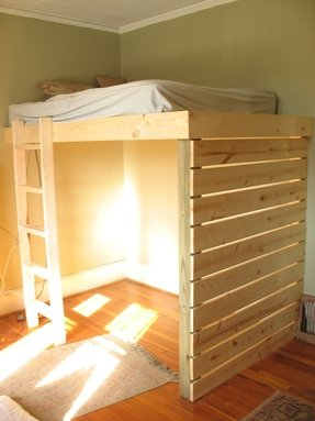 Loft bed with bed underneath 2