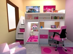 Loft Bed With Stairs And Desk 1