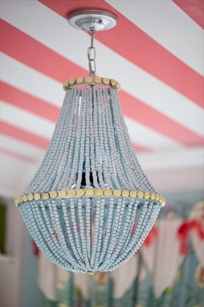 Beaded chandelier lamp shades foter making a chandelier with beads aloadofball Images