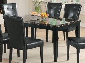 Marble top dining room table 9