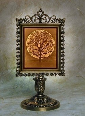 Midnight Moon - Victorian Lithophane Porcelain Lamp