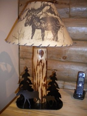 Moose lamp shade 8