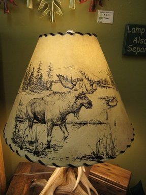 Moose printed handmade lamp shade