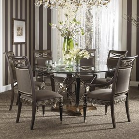 Round Glass Top Dining Room Table - Foter