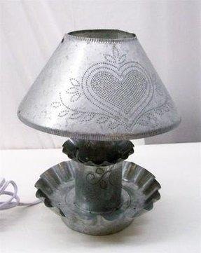 Punched Tin Lamp Shade Foter