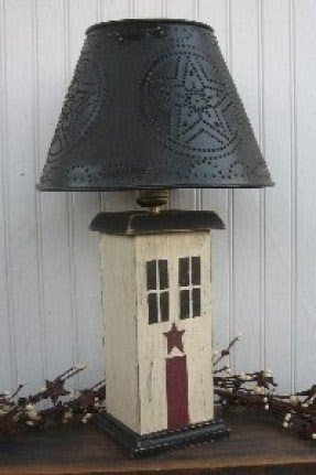 Punched tin lamp shade foter punched tin table lamps aloadofball Images