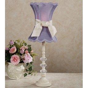 Lavender lamp shade foter rosalynn lavender table lamp ivory lavender each aloadofball Image collections