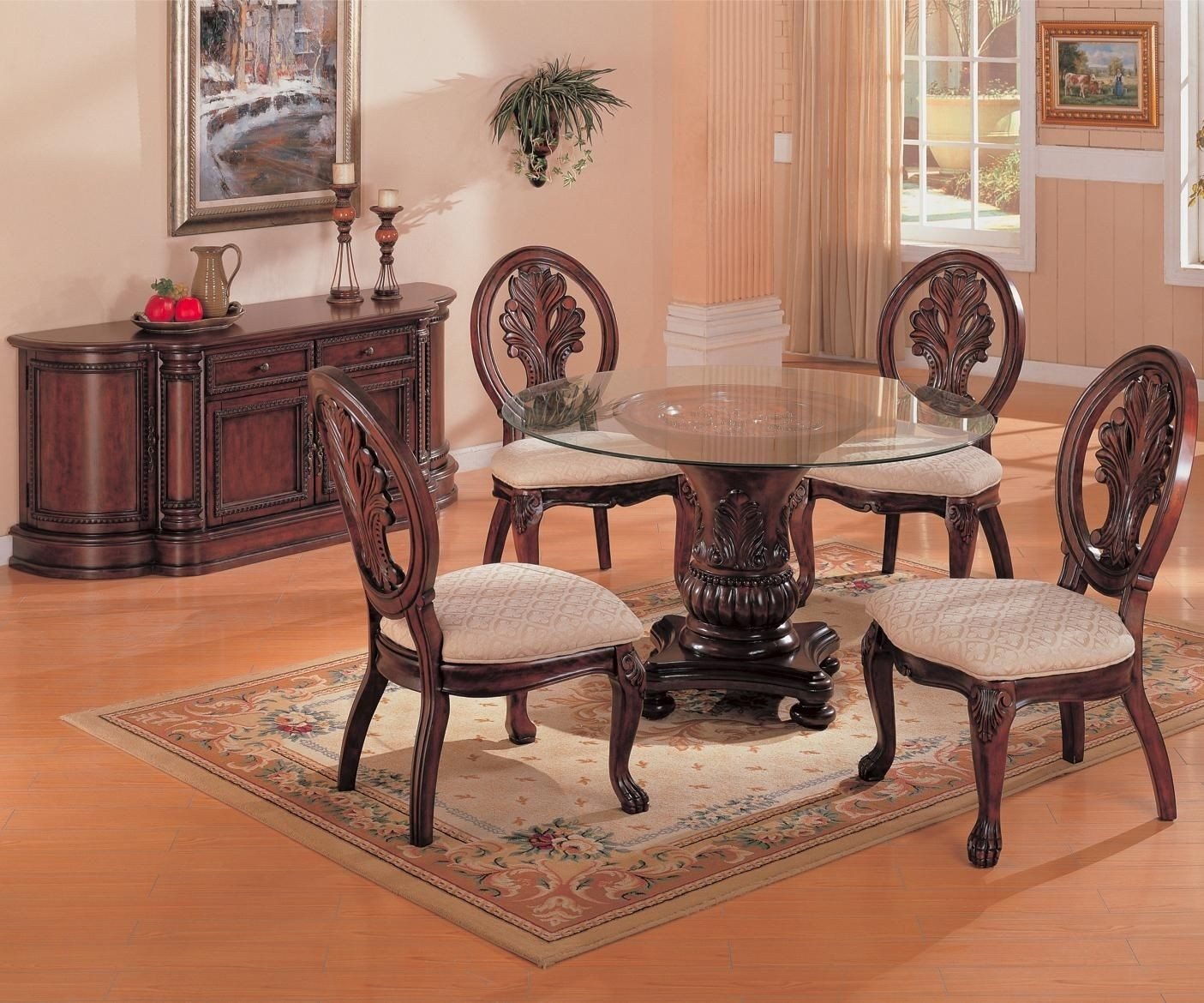 Round Glass Top Dining Room Table 9