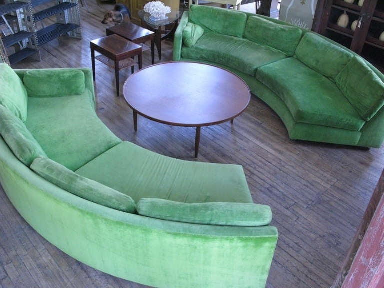 Semi Circular Curved Sectional Sofa Milo Baughman