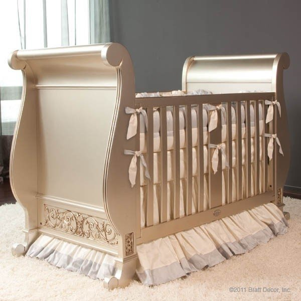 Sleigh baby bed 14