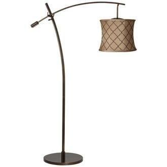 Tara Brown Moroccan Tile Shade Balance Arm Arc Floor Lamp