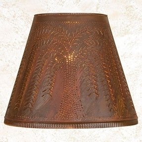 Punched tin lamp shade foter tin lamp shades table lamps mozeypictures Images