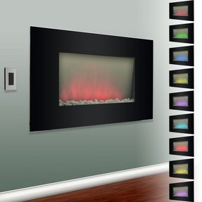 Verona color changing electric fireplace heater 1