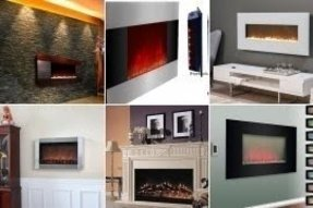 Wall electric fireplace heater