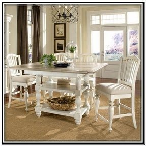 White Counter Height Kitchen Table - Ideas on Foter
