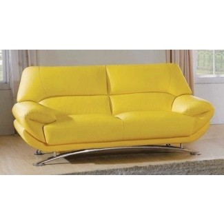 Delicieux Yellow Leather Sofa 12
