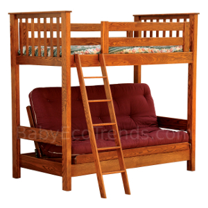 amish made solid wood futon bunk bed woods oak maple solid wood bunk beds with stairs   foter  rh   foter