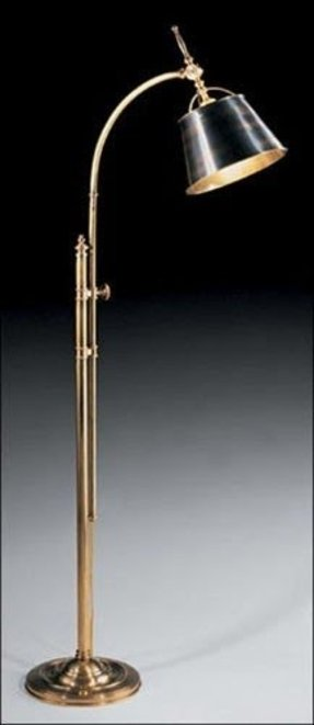 Antique brass floor lamp with marble base