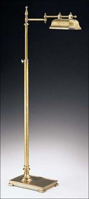 Antique solid brass floor lamp 2