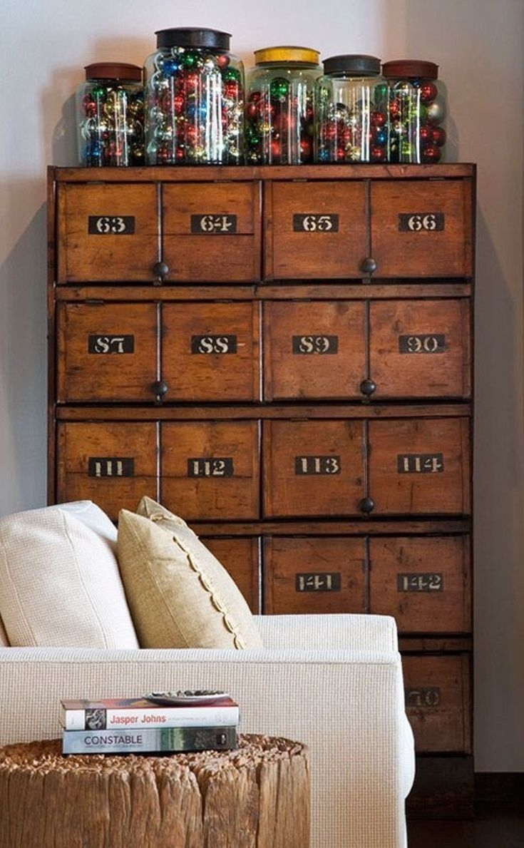 Apothecary Cd Cabinet 12