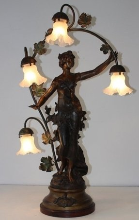Art Deco Lady Lamp Foter