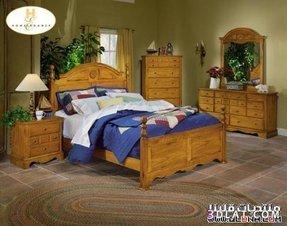 Bedroom Sets Traditional Furniture Set Golden Oak Finish
