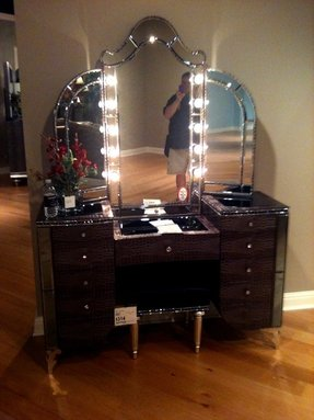Black Bedroom Vanity Set 1