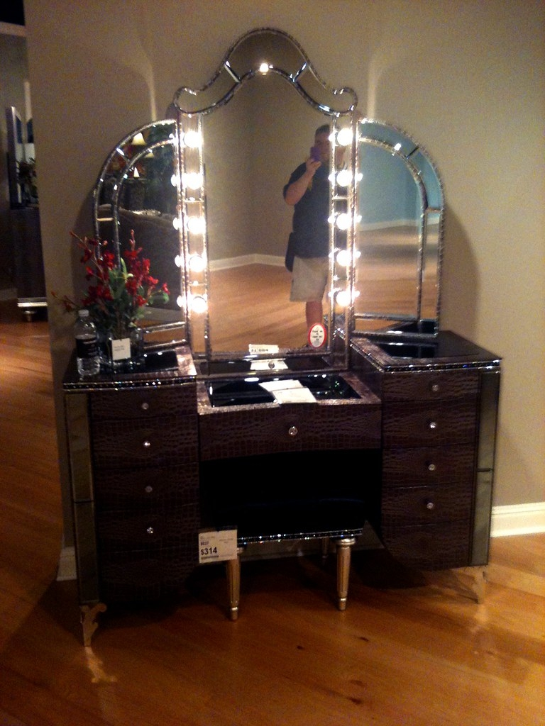 Merveilleux Black Bedroom Vanity Set 1