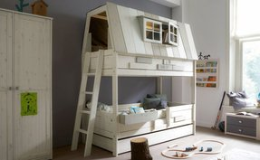 Boys bunk beds with steps