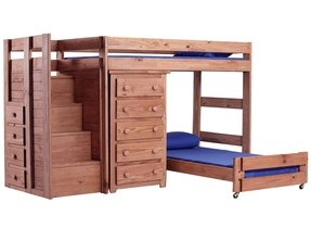 Chelsea home twin over twin l shaped bunk bed with