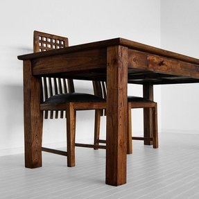 Dining table with drawers