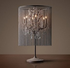 Elegant table lamp crystal 2