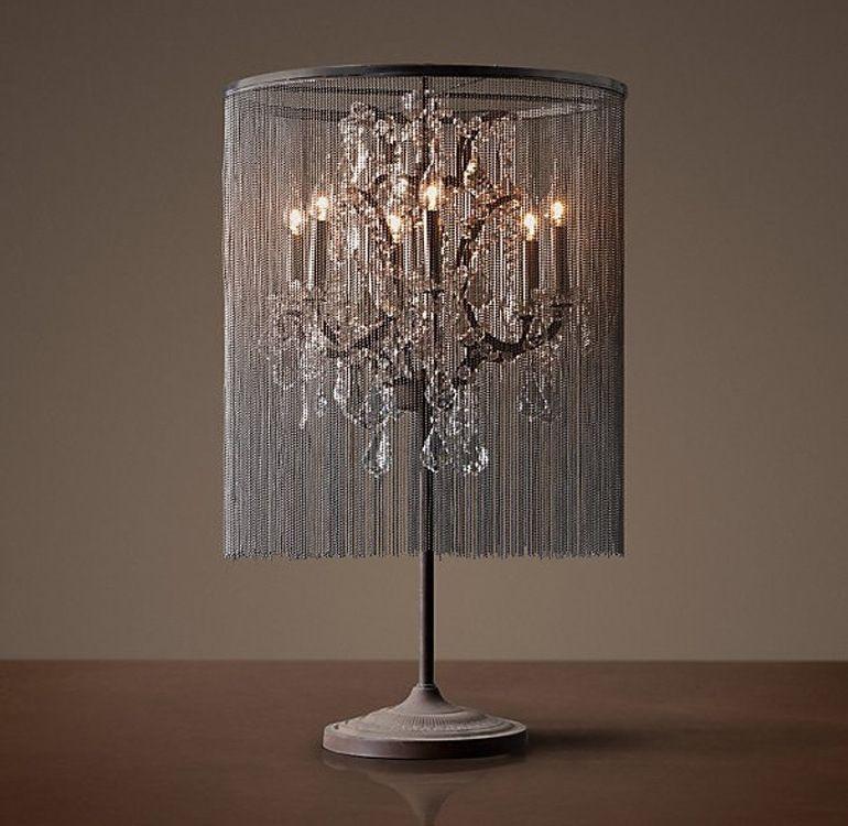 Genial Elegant Table Lamp Crystal 2