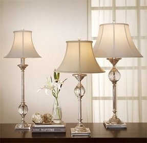 Elegant table lamp crystal