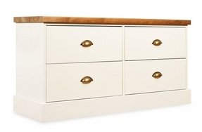 End of bed chest off white or truffle brunswick painted
