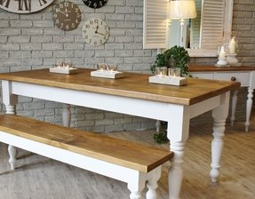 Farmhouse Table With Bench And Chairs Ideas On Foter