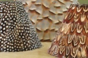 Feather lamp shades foter feather lamp shades 5 aloadofball Image collections