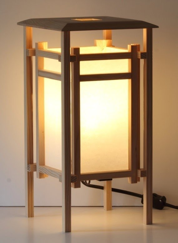 Collectibles Lamps: Electric Diy Wooden Table Lamp Inspired By Spider
