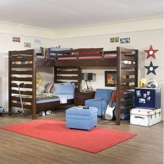 L Shaped Loft Bunk Beds - Ideas on Foter