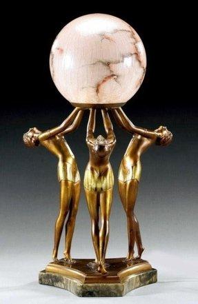 Art Deco Lady Lamp Foter