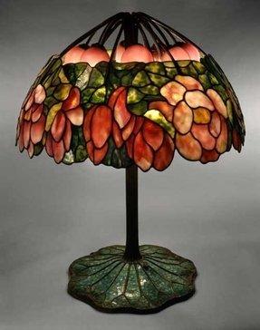 Lotus tiffany table lamp foter lotus tiffany table lamp 24 aloadofball Choice Image