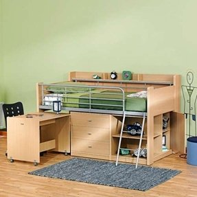 Low loft bunk beds for kids 2