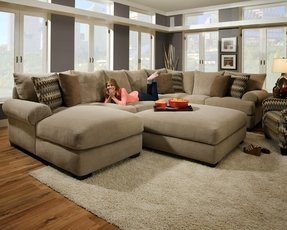 Microfiber Sectional Sofa With Ottoman Ideas On Foter