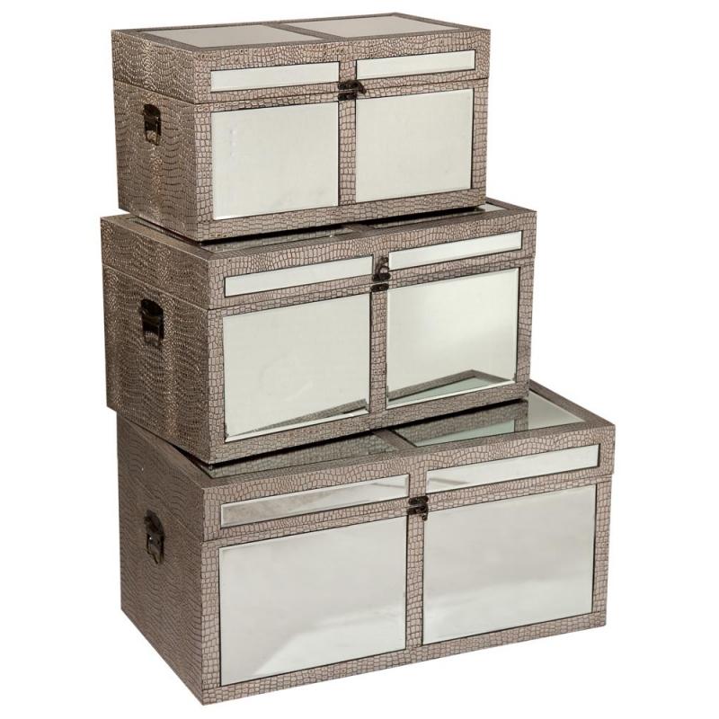 Mirrored Storage Chest