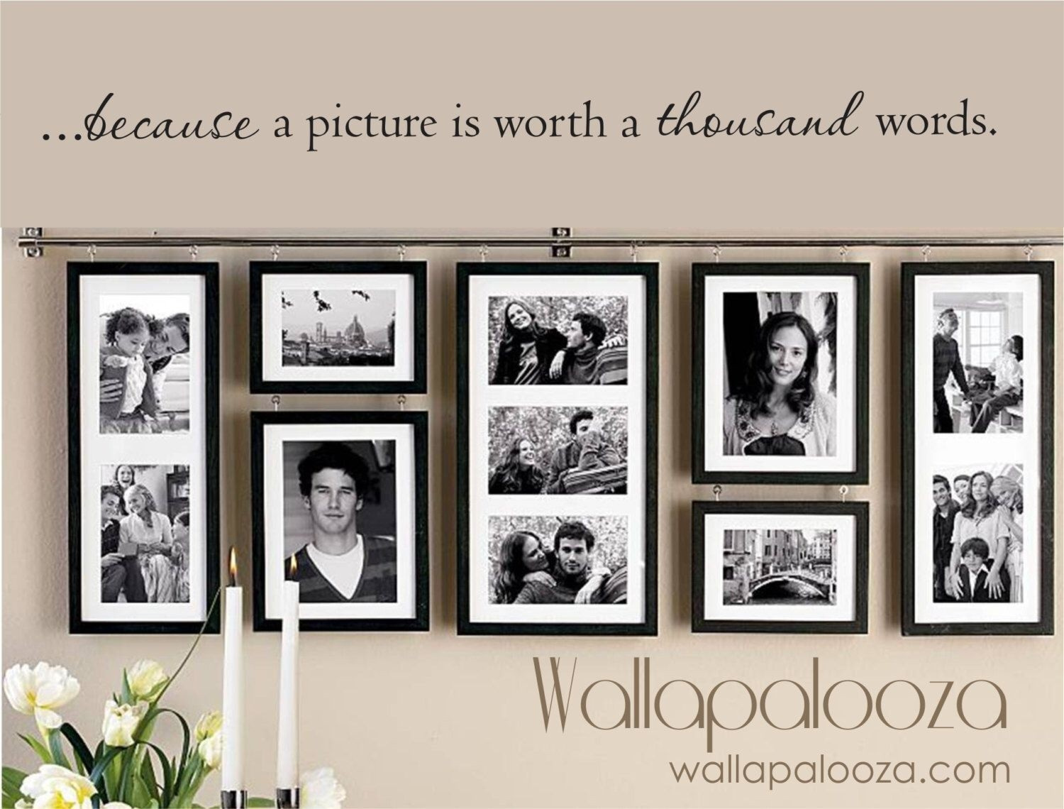 Mothers day gift idea hanging picture frames