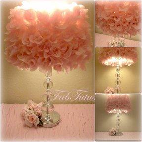 Rose lamp shade foter pink silk rose lamp shade shabby chic 1 mightylinksfo