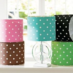Polka dot lamp shades 2