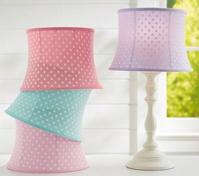 Polka dot lamp shades